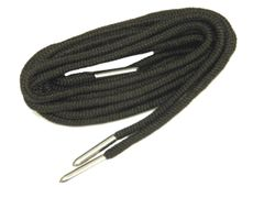 Coal BLACK 550 Paracord Steel Tip Shoelaces Boot Laces Shoestrings - 2 Pair Pack