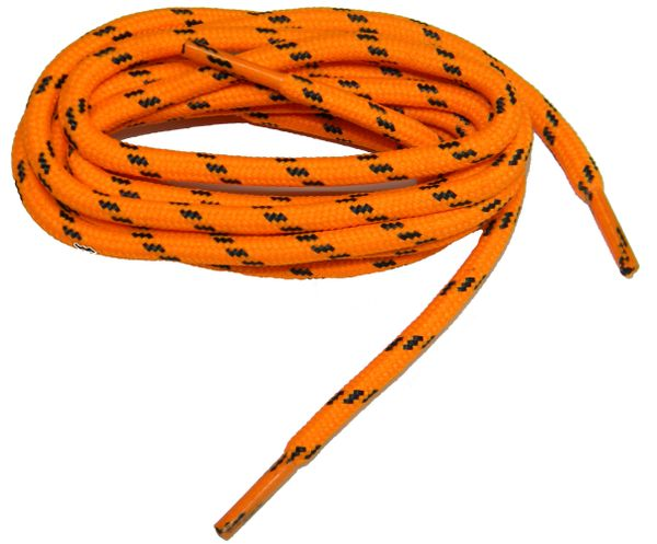 "ProTOUGH(tm) ""International Safety Orange w/ Black"" Kevlar Reinforced Heavy Duty Boot Laces - 2 Pair Pack"