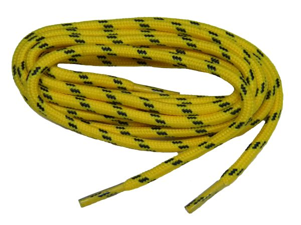 """ProTOUGH(tm) """"Yellow Jacket w/ Black"""" Kevlar Reinforced Heavy Duty Boot Laces - 2 Pair Pack"""