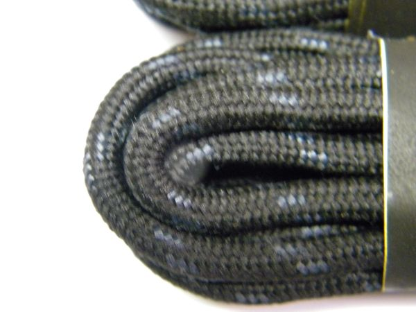 25' Feet Black w/ Black Heavy duty Kevlar(R) Reinforced Tie down Cord Utility String with Black metal tips