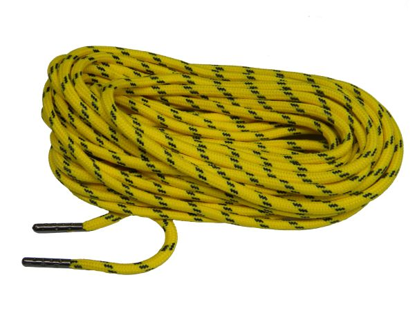 25' Feet Canary Yellow w/ Black Heavy duty Kevlar(R) Reinforced Tie down Cord Utility String with black metal tips