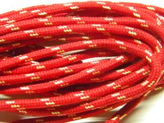 25' Feet RED w/ YELLOW Heavy duty Kevlar(R) Reinforced Tie down Cord Utility String with black metal tips