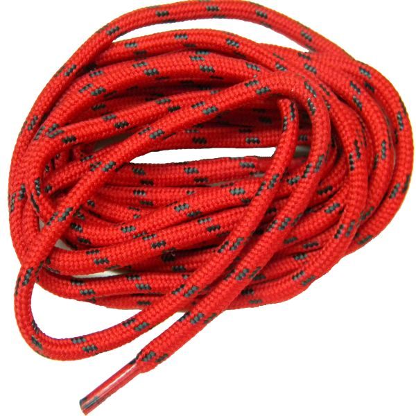 25' Feet RED w/ BLACK Heavy duty Kevlar(R) Reinforced Tie down Cord Utility String with Black metal tips