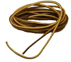 Fresh Tan COUGAR Leather Laces for Hi-top Boots and All Quality Footwear 1/8 square cut Strongest leather available