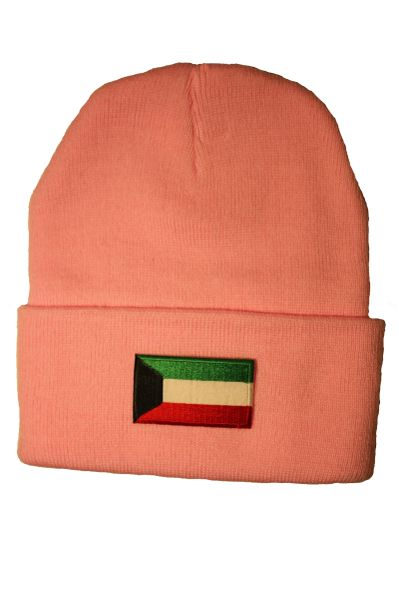 KUWAIT Country Flag BRIM Knitted HAT CAP choose your color BLACK, WHITE, RED, PINK, BLUE... NEW