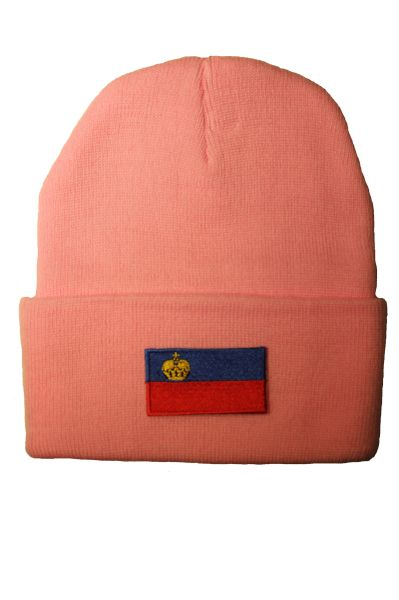LIECHTENSTEIN - Country Flag BRIM Knitted HAT CAP choose your color BLACK, WHITE, RED, PINK, BLUE... NEW