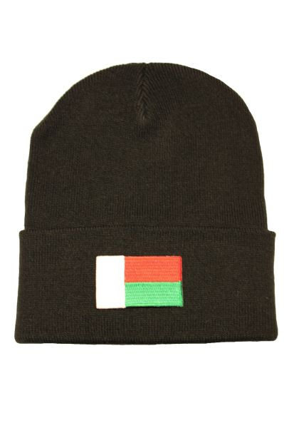 MADAGASCAR - Country Flag BRIM Knitted HAT CAP choose your color BLACK, WHITE, RED, PINK, BLUE... NEW