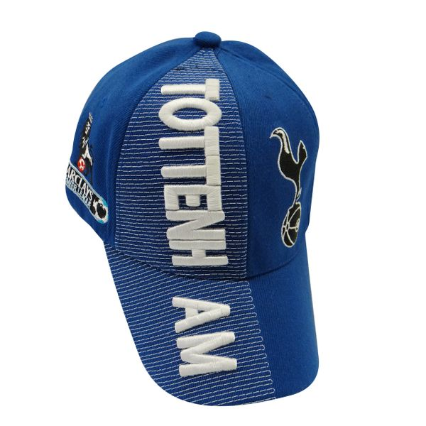 TOTTENHAM BLUE COUNTRY FLAG WITH LOGO FIFA SOCCER WORLD CUP EMBOSSED HAT CAP .. HIGH QUALITY .. NEW