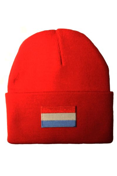 NETHERLANDS - Country Flag BRIM Knitted HAT CAP choose your color BLACK, WHITE, RED, PINK, BLUE... NEW
