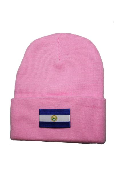 NICARAGUA -Country Flag BRIM Knitted HAT CAP choose your color BLACK, WHITE, RED, PINK, BLUE... NEW