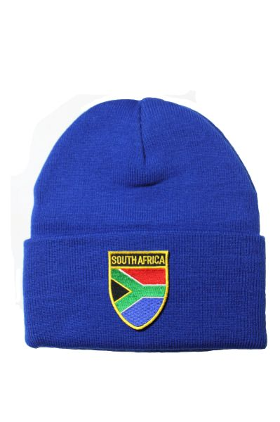 SOUTH AFRICA - Country Flag BRIM Knitted HAT CAP choose your color BLACK, WHITE, RED, PINK, BLUE... NEW