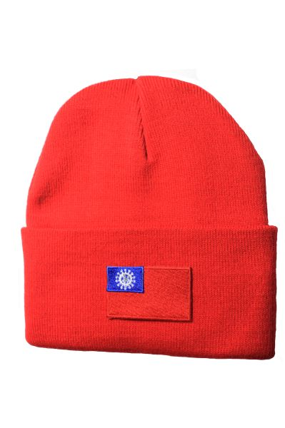 TAIWAN - Country Flag BRIM Knitted HAT CAP choose your color BLACK, WHITE, RED, PINK, BLUE... NEW
