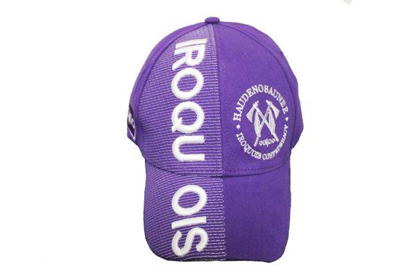 Iroquois HAUDENOSAUNEE Iroquois Confederacy Violet Embossed HAT Cap New