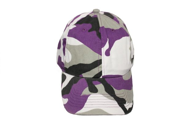 Camouflage Hat Cap .Available : 6 Colors .NEWHATTAN.New (Purple)