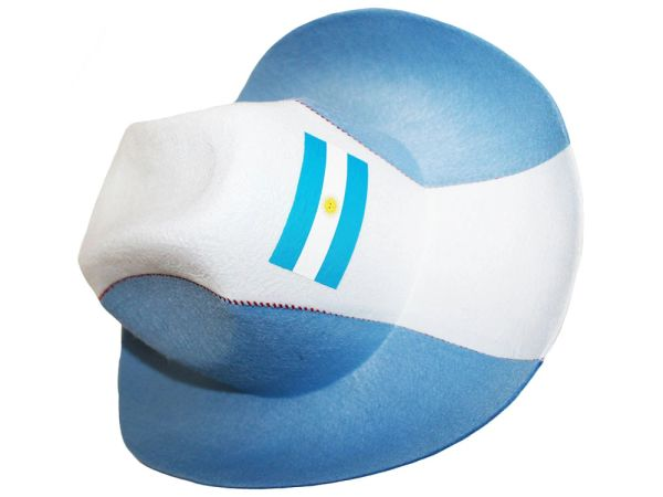 ARGENTINA BLUE WHITE COUNTRY FLAG , COWBOY STYLE HAT .. NEW