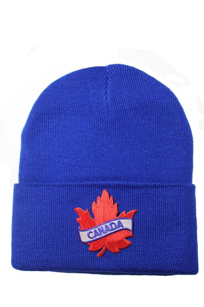 CANADA Red Maple Leaf Patch Toque HAT .Colors Available : Black, Red, Blue, Pink.New (Red) …
