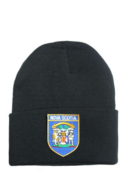 NOVA SCOTIA - BRIM Knitted HAT CAP choose your color BLACK, WHITE, RED, PINK, BLUE... NEW
