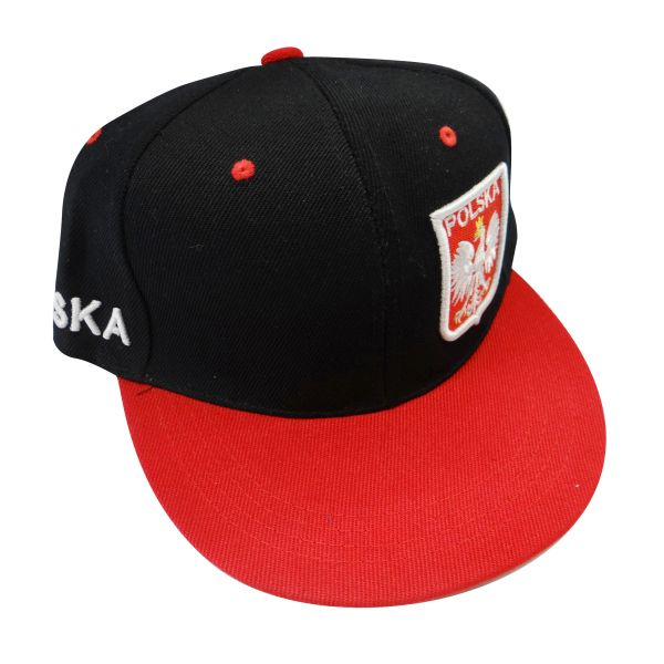 POLSKA POLAND BLACK RED WITH EAGLE HIP HOP HAT CAP .. NEW