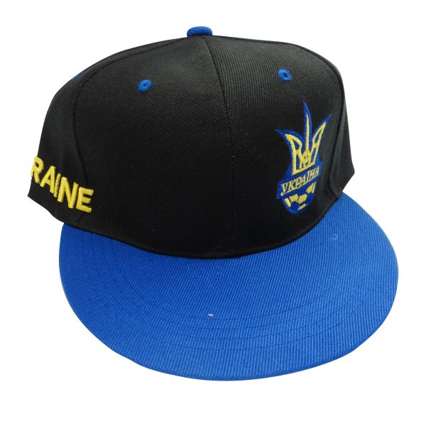 UKRAINE BLACK BLUE WITH TRIDENT HIP HOP HAT CAP .. NEW