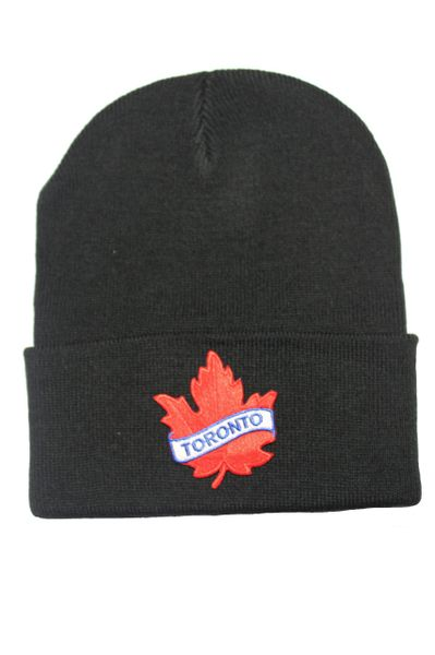 Toronto Red Maple Leaf Patch BRIM Toque HAT .Colors Available : Black, Red, Blue, Pink.New …