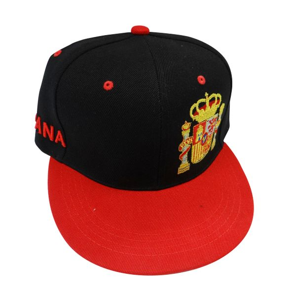 ESPANA SPAIN BLACK RED HIP HOP HAT CAP .. NEW