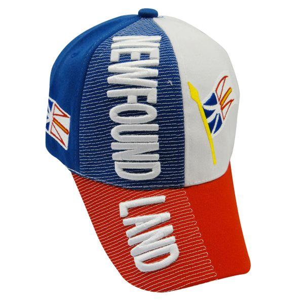 NEWFOUNDLAND & LABRADOR - CANADA Provincial Flag EMBOSSED HAT CAP