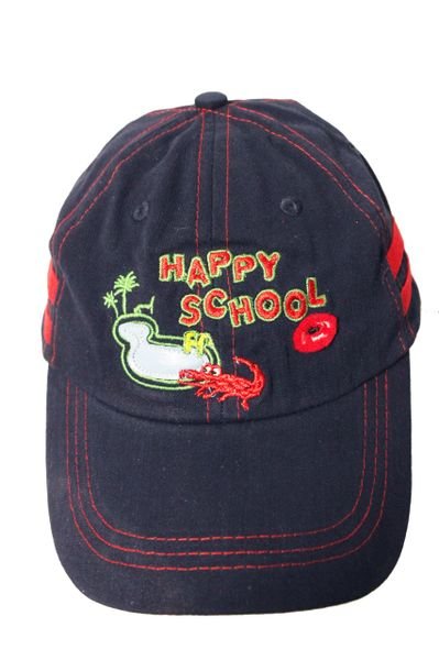 HAPPY SCHOOL CROC & POND HAT CAP.. For KIDS 4 - 8 Years.. Colors : Navy , Red , Khaki