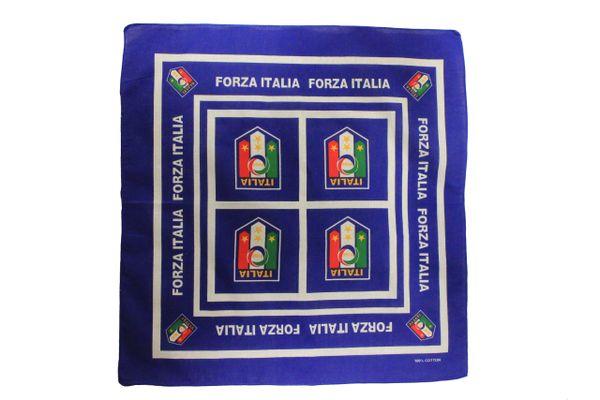 "IITALIA FIGC Logo 4 Stars , ITALIA FORZA 21"" X 21"" INCH BANDANA HAT"