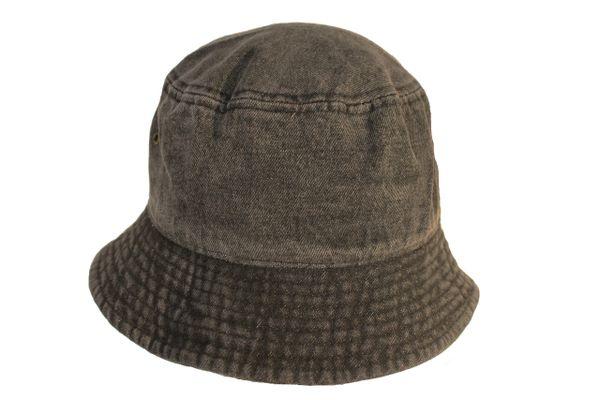 Washed Cotton Denim BUCKET HAT .. Colors : Black ( S / M ) , Light Blue ( L / XL ) , Dark Blue ( L / XL )