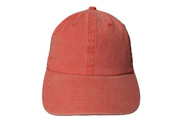 Cotton Denim HAT CAP .. Size : ONE SIZE..Colors :Coral , Turquoise