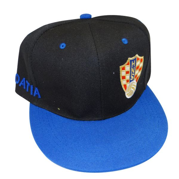 CROATIA BLACK BLUE NHS LOGO FIFA SOCCER WORLD CUP HIP HOP HAT CAP .. NEW