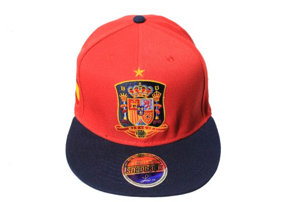 SPAIN Country Flag , 1 Star , National Football Team Flag SNAPBACK Embroidered HIP HOP Hat Cap