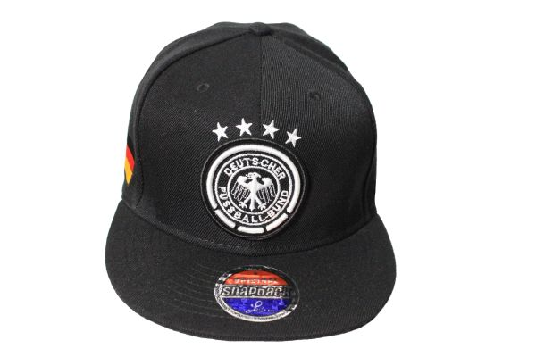 GERMANY Country Flag , 4 Star , DEUTSCHER FUSSBALL - BUND Logo SNAPBACK Embroidered HIP HOP Hat Cap