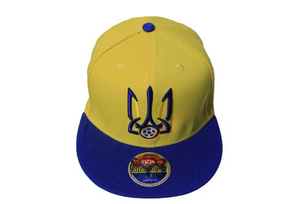 UKRAINE Country Flag With TRIDENT SNAPBACK Embroidered HIP HOP Hat Cap