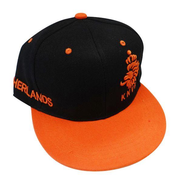 NETHERLANDS HOLLAND BLACK ORANGE KNVB LOGO FIFA SOCCER WORLD CUP HIP HOP HAT CAP .. NEW