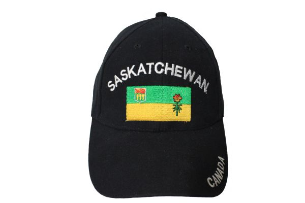 CANADA SASKATCHEWAN Provincial Flag Embroidered HAT CAP .. ONE SIZE FITS ALL
