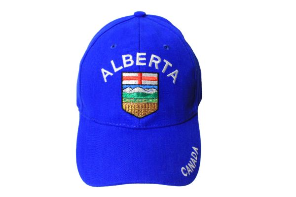 CANADA ALBERTA Provincial Flag Embroidered HAT CAP .. ONE SIZE FITS ALL