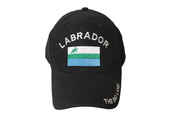CANADA THE BIG LAND LABRADOR Provincial Flag Embroidered HAT CAP .. ONE SIZE FITS ALL
