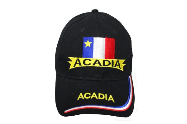 CANADA ACADIA Flag Embroidered HAT CAP .. ONE SIZE FITS ALL