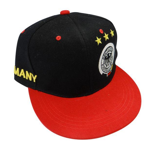 GERMANY DEUTSCHLAND BLACK RED , 3 STARS , DEUTSCHER FUSSBALL - BUND LOGO FIFA SOCCER WORLD CUP HIP HOP HAT CAP .. NEW