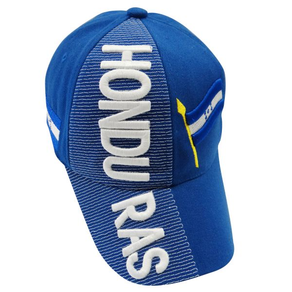 HONDURAS BLUE COUNTRY FLAG , EMBOSSED HAT CAP .. NEW