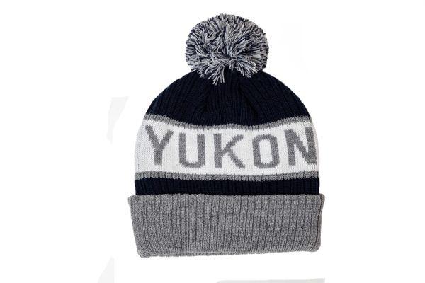 YUKON - CANADA Territory WINTER HAT With POM POM