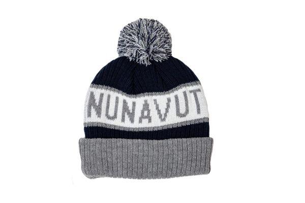 NUNAVUT - CANADA Territory WINTER HAT With POM POM
