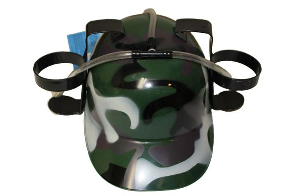 CAMOUFLAGE DRINKING HAT .. FOR ADULTS & KIDS .. HIGH QUALITY .. NEW