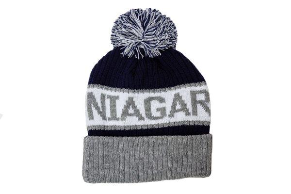 NIAGARA FALLS - CANADA ONTARIO Province WINTER HAT With POM POM ..( CDA-TQ24-NIA-1 )