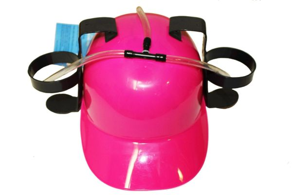PINK DRINKING HAT FOR ADULTS & KIDS .. HIGH QUALITY .. NEW