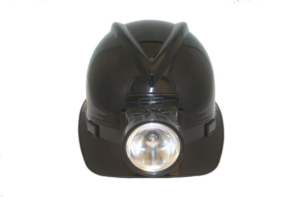 MINER'S BLACK TOY HARD HAT WITH LIGHT FOR ADULTS & KIDS .. HIGH QUALITY .. NEW