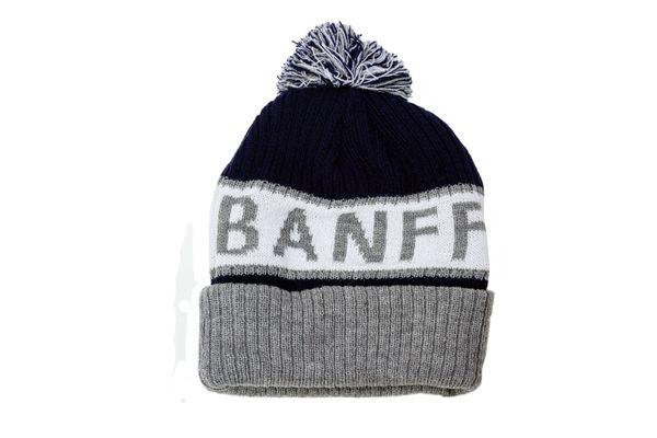 BANFF - CANADA Alberta' Town WINTER HAT With POM POM ..( BANFF-TQ4-1 )