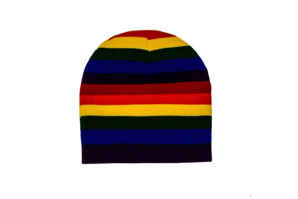 RAINBOW BEANIE TOQUE HAT .. ( RAI-TQ1-2 )