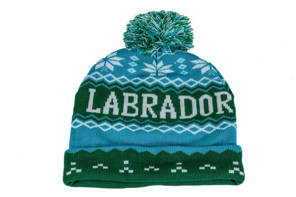 LABRADOR - CANADA Province With Snow Flakes WINTER HAT With POM POM .. New.. ( LAB-TQ3 )